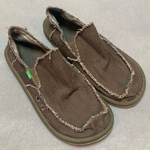 SANUK Men's Hemp Slip On Shoes.